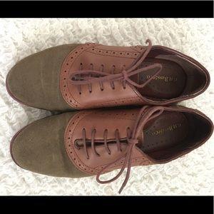 Bass 100% leather saddle shoes